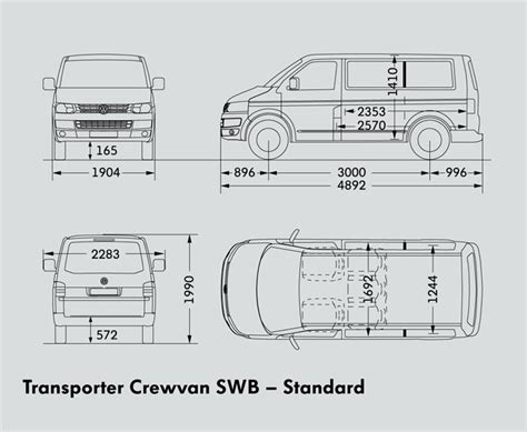 volkswagen caravelle dimensions vw transporter t5 swb dimensions specialist car and vehicle