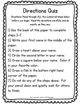 printable written directions all worksheets 187 following written directions worksheets