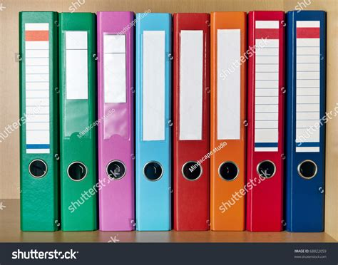 colored binder multicolored office binders stock photo 68822059