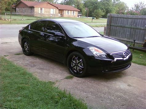 black nissan nissan altima 2009 black