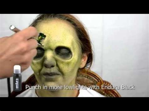 makeup tutorial trucco halloween zombie youtube easy and fast zombie makeup with prosthetic and airbrush