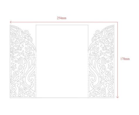 gate fold single card template 5x7 gate fold door wedding invitation card template