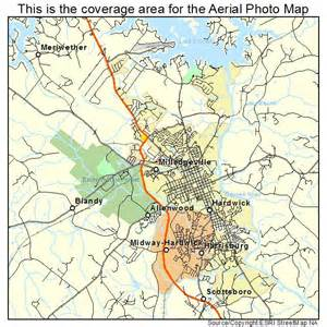 aerial photography map of milledgeville ga