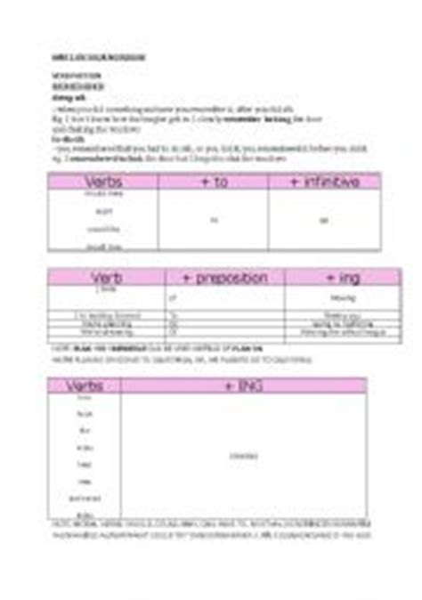 verb pattern dominoes english teaching worksheets verbs
