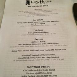 Row House Menu by Rowhouse Restaurant 27 Photos 58 Reviews American