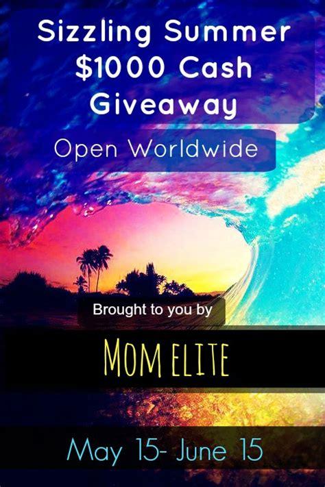 Summer Cash Giveaway - sizzling summer cash giveaway mom elite