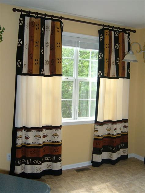 mud cloth curtains african mud cloth window treatments cortinas y cenefas