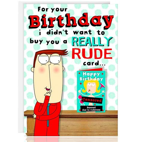Rude Birthday Cards For Happy Birthday Greetings Card Funny Humour Cheeky Rude