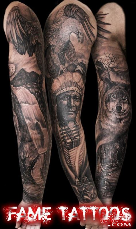 fame tattoos best ideas about indian american indian sleeve