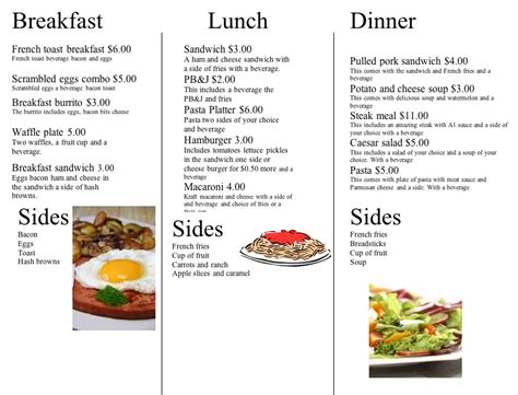 what i learned from the menu project madisonhansen
