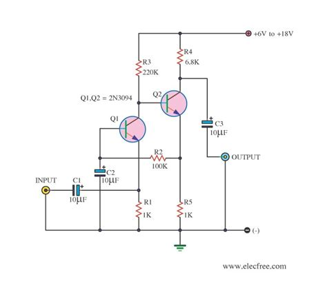 transistor in lifier circuit low impedance mini lifier circuit diagram world