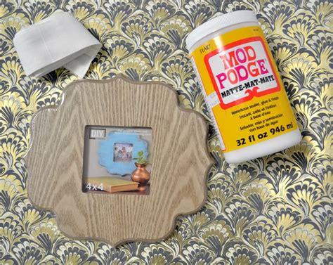 Decoupage With Fabric On Wood - decoupage wood diy photo frame mod podge rocks