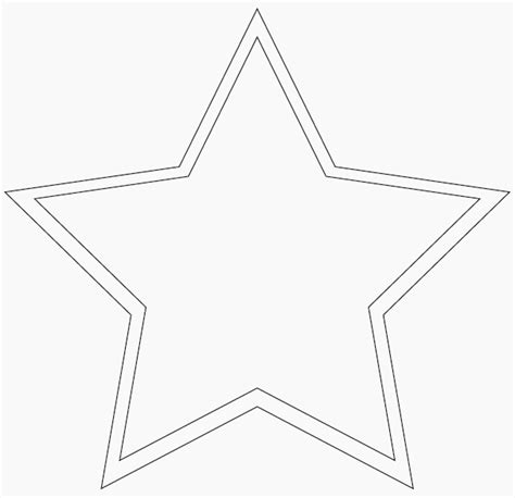 star shape coloring pages