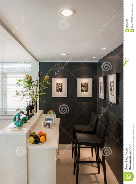 modern living room with bar style stock photo image