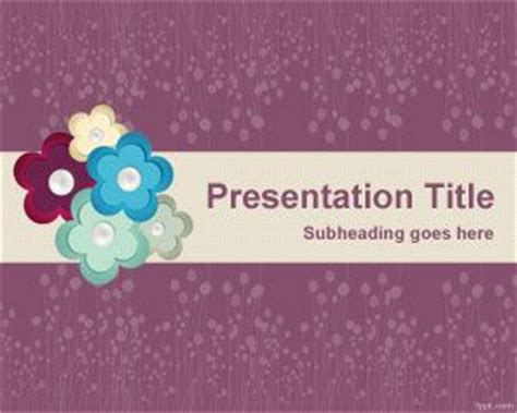 scrapbook powerpoint template flowers powerpoint templates