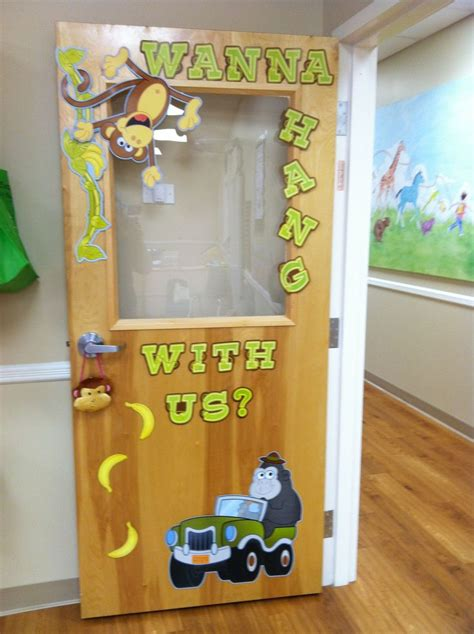 Nursery Classroom Decoration Preschool Jungle Classroom Door Decorations Bulletin Board Wall Ideas Classroom
