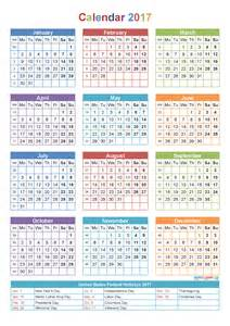 calendar template with pictures printable yearly calendar 2017 with holidays template