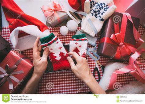 new year wrapping gift wrapping for new year stock photo image 59636346