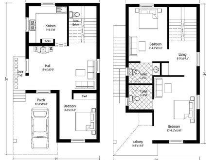 50 x 50 floor plans duplex house plan 2 story duplex plans house plans india