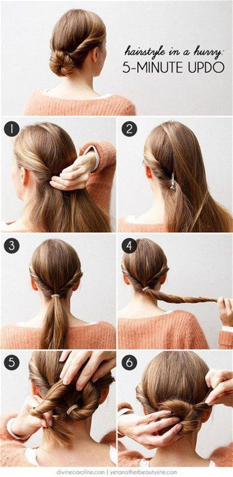 diy hairstyles in 5 minutes 27 easy five minutes hairstyles tutorials pretty designs