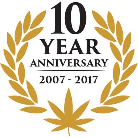 10 year anniversary color 10 year anniversary oaksterdam