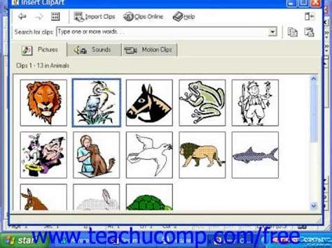 word clipart word 2003 tutorial inserting clip 2000 97 microsoft