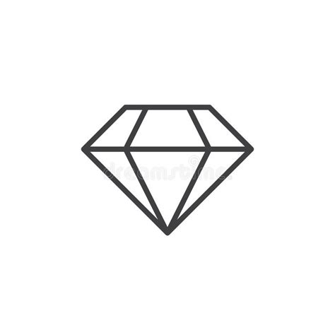 diamond line icon brilliant outline logo illustration l