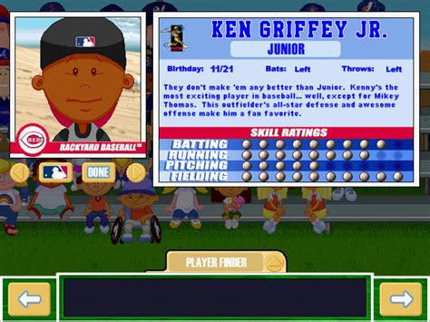 ken griffey jr backyard baseball viva la vita backyard baseball 2001 draft first round