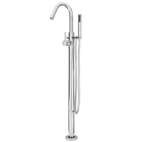 pfister modern 2 handle free standing tub faucet