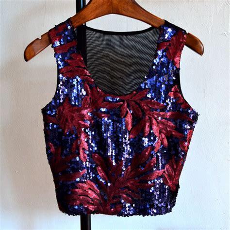 Boho Blouse Vest summer tank sequin sleeveless boho tops vest