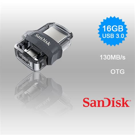 Otg Usb Drive 3 0 Sandisk 16gb sandisk otg ultra dual usb drive 3 0 for andriod phones