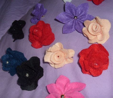 pannolenci fiori fiori in pannolenci materiali stoffa e filati di