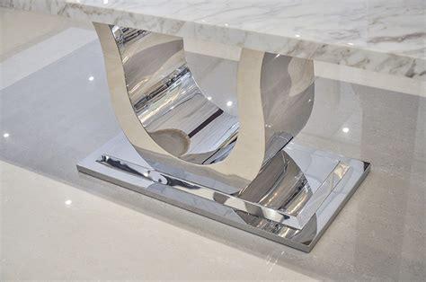 Uscio iv marble dining table white volakas