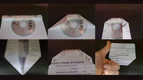 How To Make A Cd Sleeve Out Of Paper - c 243 mo hacer un protector para un cd dvd con una hoja