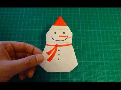 Origami Snowman - origami santa claus doovi