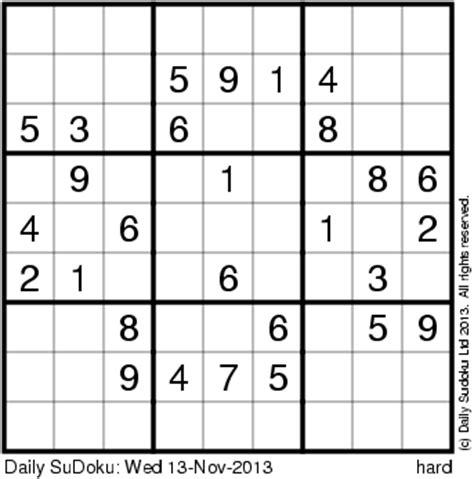 daily sudoku printable version the daily sudoku