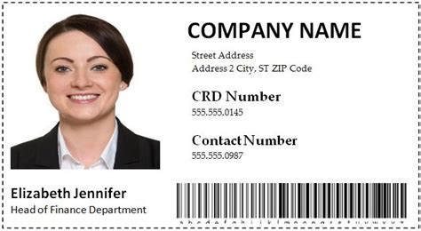employer id card template employee id card templates word format microsoft word