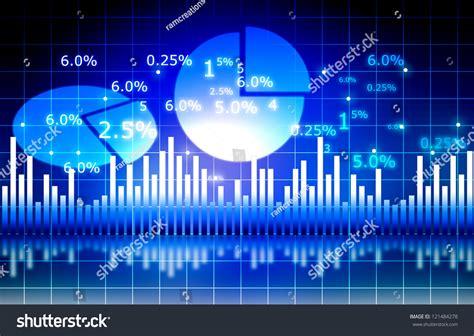 blue analysis stock market graph pie chart world stock illustration