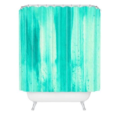 aqua shower curtains madart inc modern dance aqua passion shower curtain