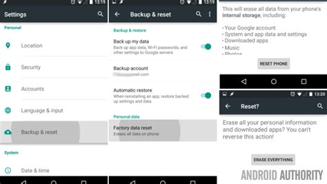 how to clear system data on android android customization how to factory reset your android device and a few things you should do