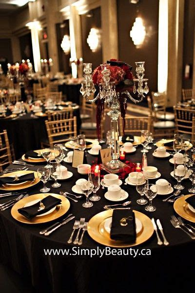 gold red and black decoration   Real Weddings   Marilena