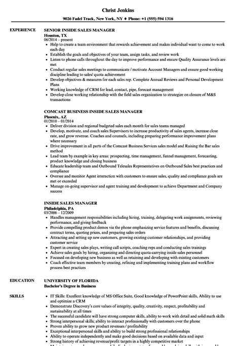 test manager resume sles inside sales manager resume sles velvet
