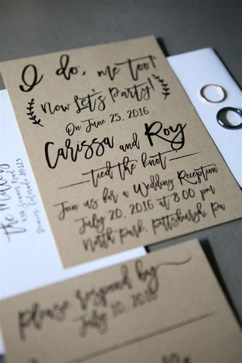 Wedding Reception Announcement by I Do Me Now Let S Elopement Wedding