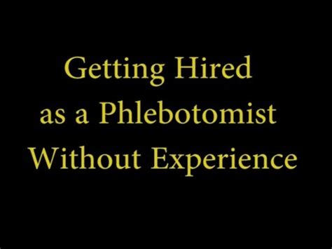 Getting An Mba Without Professional Experience by Phlebotomy Near Me