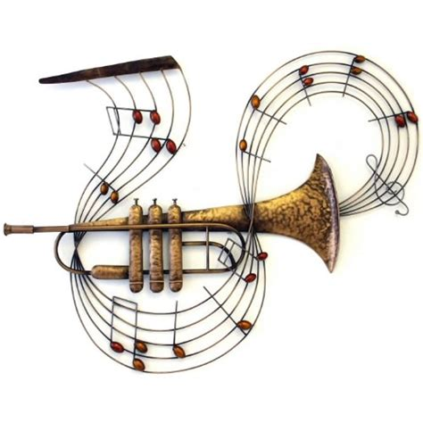 instrument with metal large trumpet musical instrument metal wall 38 5