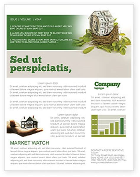 Loan Newsletter Loan On Mortgage Newsletter Template For Microsoft Word Adobe Indesign 04454 Now