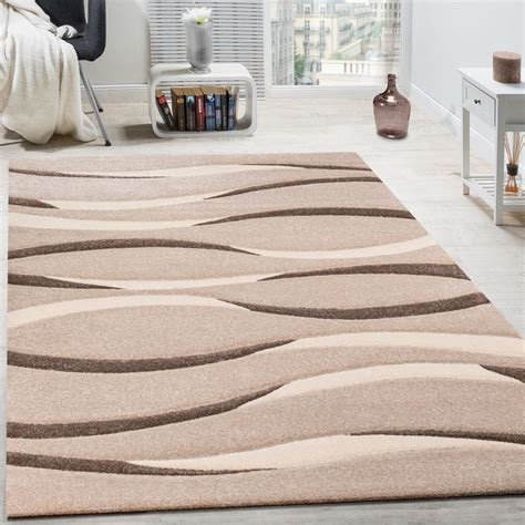Tapis Beige Salon by Tapis Moderne Salon Poils Ras Vagues Design Beige Cr 232 Me