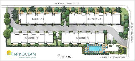 Townhouse Floor Plans 14th Amp Ocean Townhomes Pompano Beach Fl