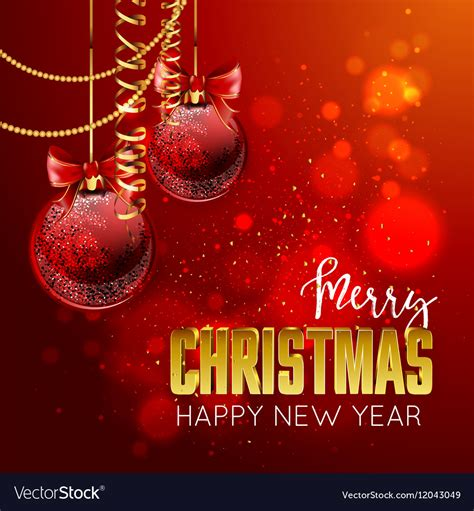 merry christmas  happy  year design template
