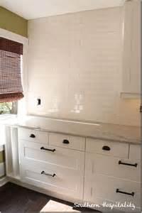 White Kitchen Bronze Hardware White Subway Tiles Subway Tiles And Oil Rubbed Bronze On